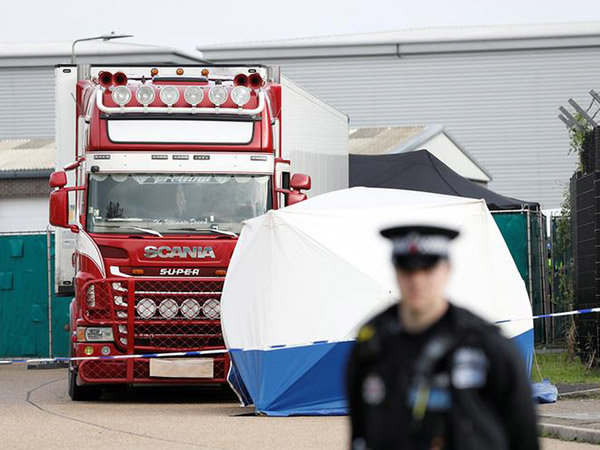 Truck with 39 bodies entered England from Belgium via ferry, police say as new details emerge