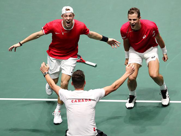 Canada matches best Davis Cup result with win over Australia in quarter-finals