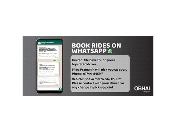 Ridesharing App OBHAI on WhatsApp launched in Bangladesh
