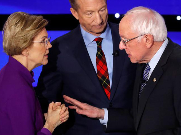 Sanders clashes with Warren - and the moderators - on sexism charge at feisty Iowa debate