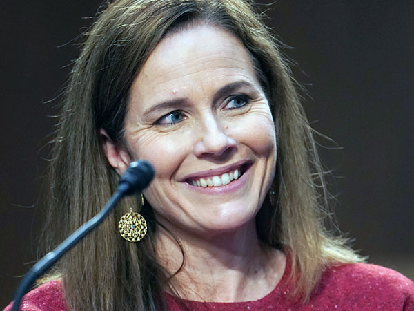 Amy Coney Barrett distances herself from Trump tweets, says she won't be anyone's 'pawn'