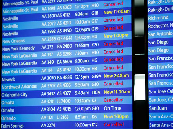Hundreds more flights cancelled as Hurricane Dorian swings north