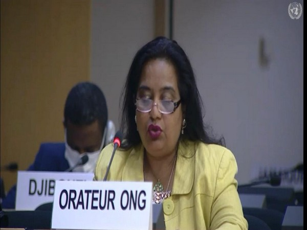 Anila Gulzar during the 45th Session of UN Human Rights Council in Geneva