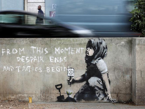 Banksy's 'Devolved Parliament' of chimps to be auctioned before Brexit day