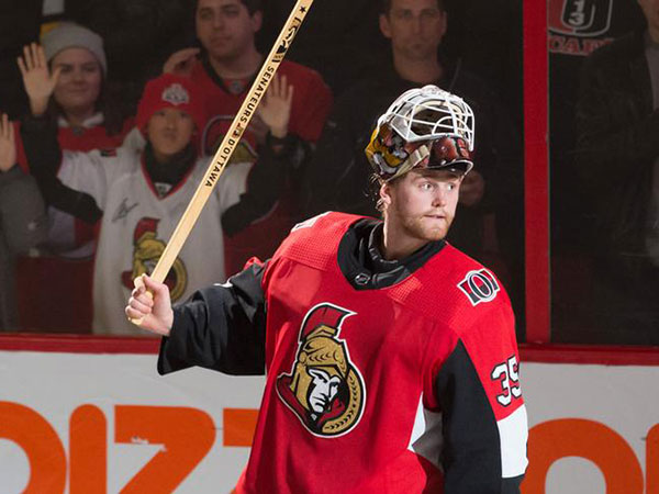 Hogberg helps Senators snap 6-game skid after Coyotes doomed by slow start