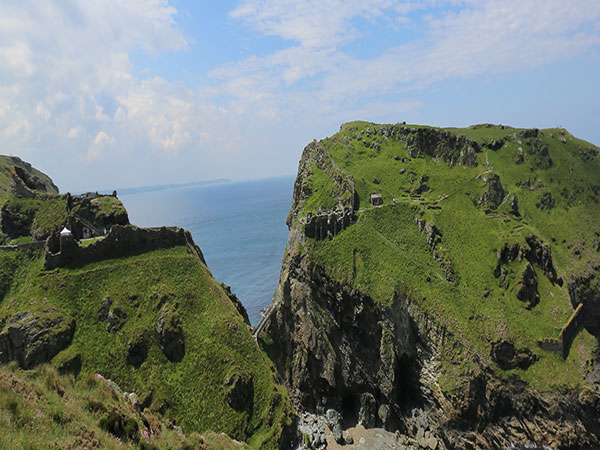 A new footbridge will reunite the two halves of Tintagel Castle