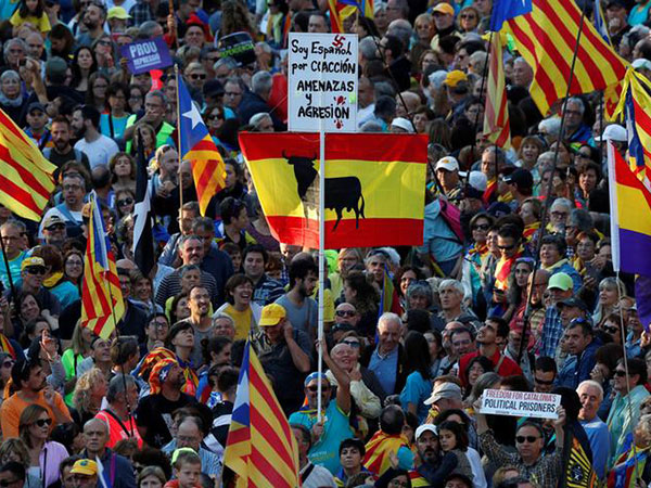 More protests in Barcelona after separatist leaders jailed