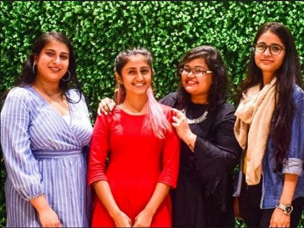 L to R: Harleen Kaur, Sujata Adhikari, Nitika Ghosh, Pragati Gupta (Team Khoj)