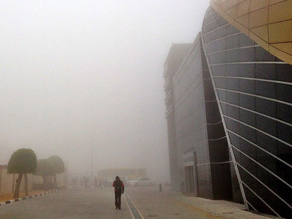UAE weather: Foggy morning in some parts of Abu Dhabi, visibility low