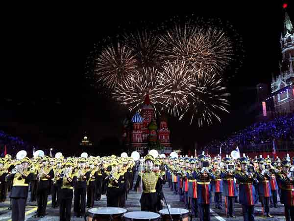 Spasskaya Tower brass band music festival opens in Moscow