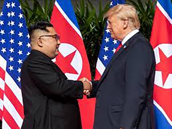 Trump 'glad to see' Kim Jong Un is well