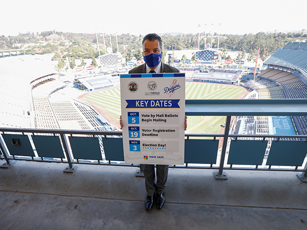 Dodger Stadium in LA to serve as voting venue