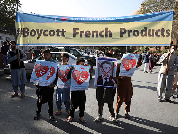 Afghans Condemn Macron over Treatment of Islam
