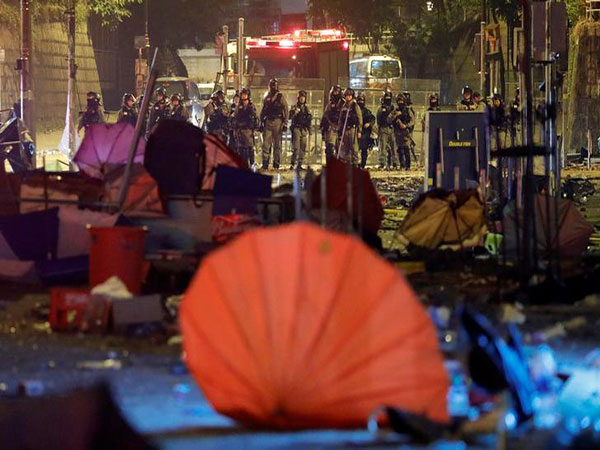What's left of one Hong Kong university after hundreds of protesters fled