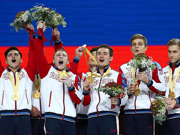 Russia wins gold in men's team all-around at 2019 Artistic Gymnastics World Championships