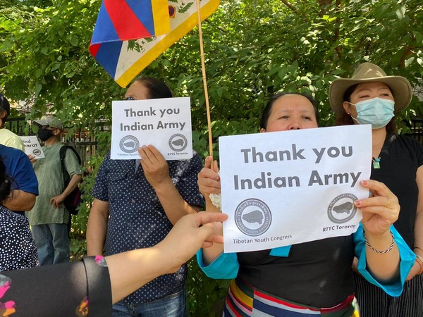 Regional Tibetan Youth Congress holds anti-China protest outside Chinese Consulate in Toronto