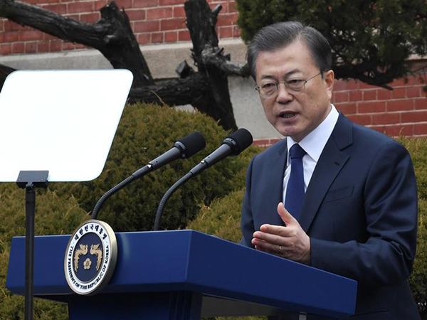 Moon asks opposition party leader to present details of relief bond offer