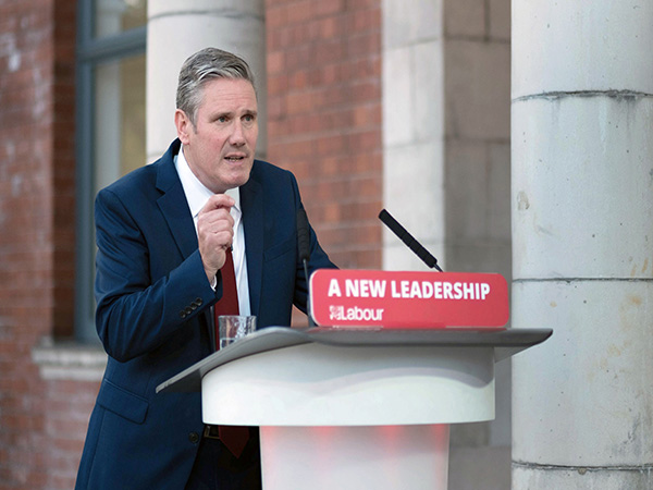 UK's Labour leader self-isolates after staff member tested positive for coronavirus