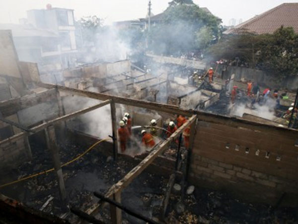 Two fires break out in Jakarta on Tuesday morning