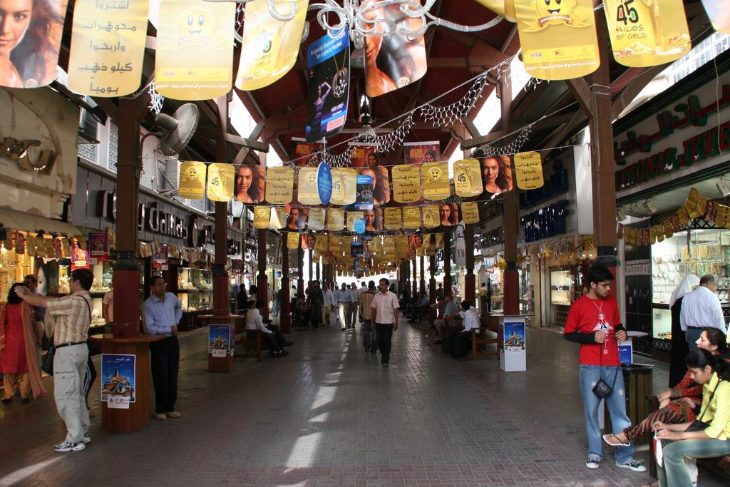 All that glitters, a walk through Dubai's iconic Gold Souq, jewellery, aromatic spices