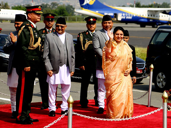 President Bhandari leaves for Myanmar