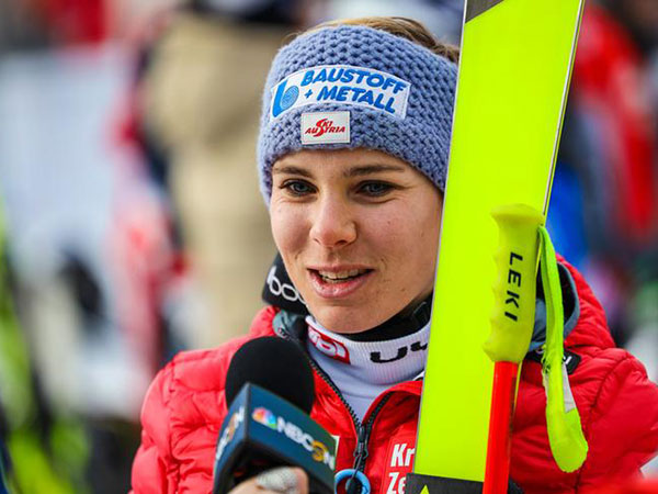 Austria's Nicole Schmidhofer wins the 2nd World Cup downhill in Lake Louise
