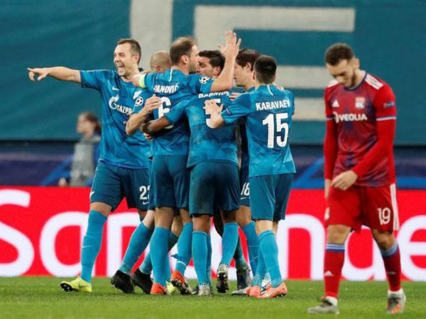 Zenit St. Petersburg defeats Lyon in UEFA Champions League