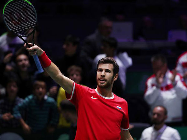 Russian tennis player Khachanov says Davis Cup opening tie against Croatia was tough