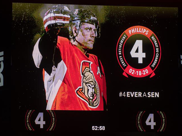 Sens sink Sabres on night of Chris Phillips' jersey retirement ceremony