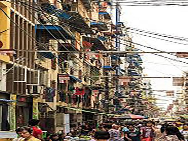90 dangerous old buildings still standing in Yangon