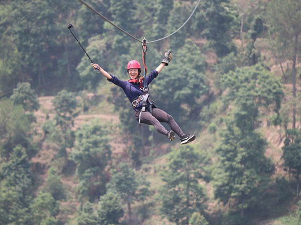 Dhulikhel's zip line - an enthralling experience