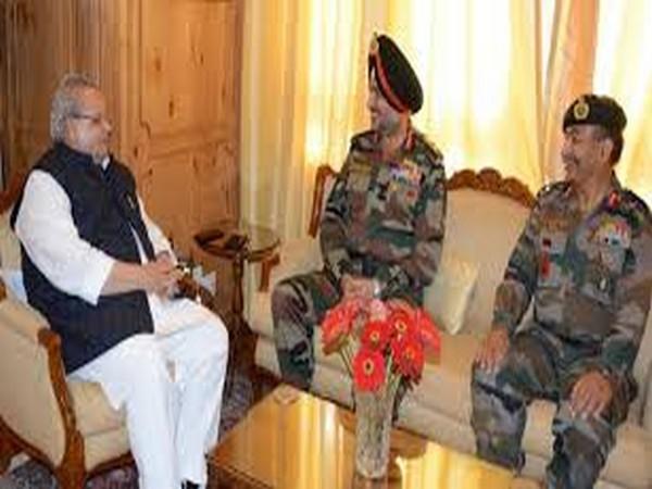 Lt Gen Ranbir Singh meets J-K Governer