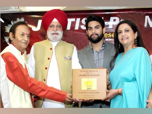 Parduman Suri awarded the 'Youth Icon Star 2021 - Jyotish Urja' award by Jyotish Prangan in Chandigarh