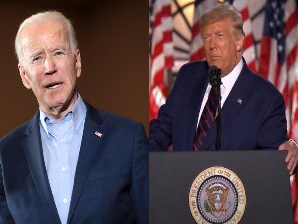 Democratic presidential nominee Joe Biden and US President Donald Trump