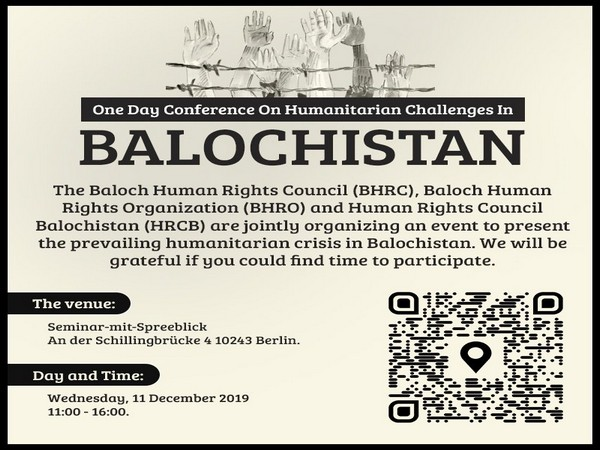 The conference will highlight various aspects of human rights violations in Balochistan.