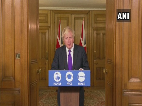 UK Prime Minister Boris Johnson during a press conference on Wedenesday.