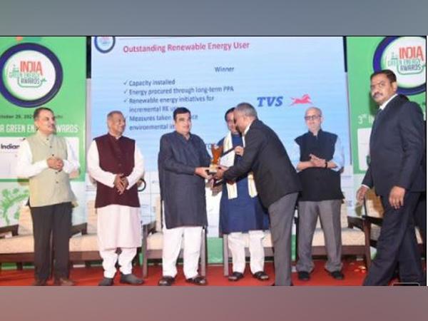 TVS Motor Company Wins India Green Energy Award