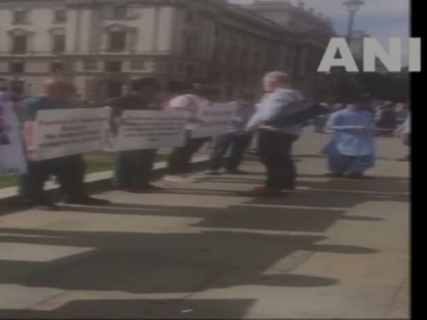 FBM protests outside British Parliament against Iran, Pak atrocities