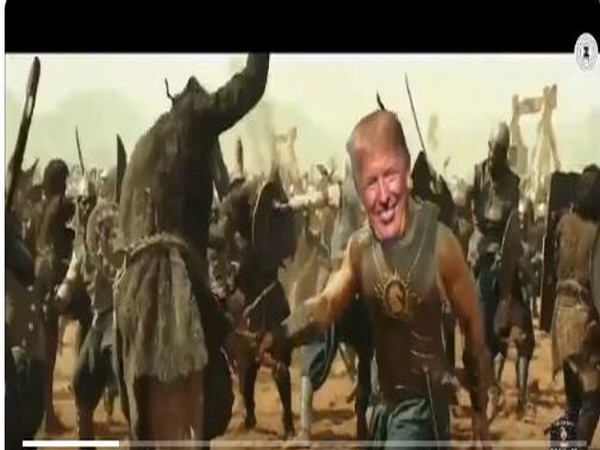 Trump retweets morphed 'Baahubali' video, says looking forward to being with 'great friends' in India