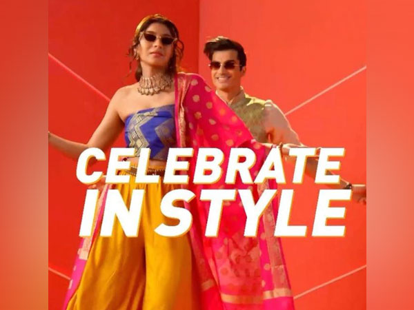 Catchy hip-hop music sets the mood for the Festive Fashion collection