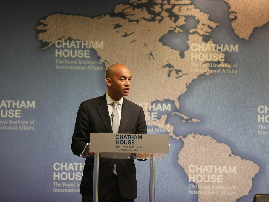 Chuka Umunna speaks after defecting to the Lib Dems
