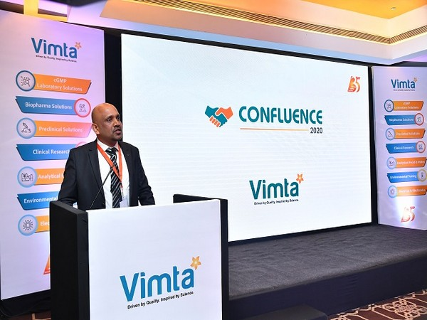 Suresh Kumar, President of Vimta Labs Limited addressing guests at Confluence 2020