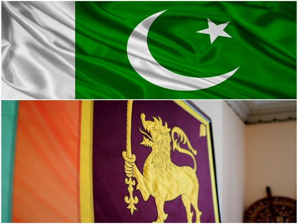 Pakistan and Sri Lankan flag