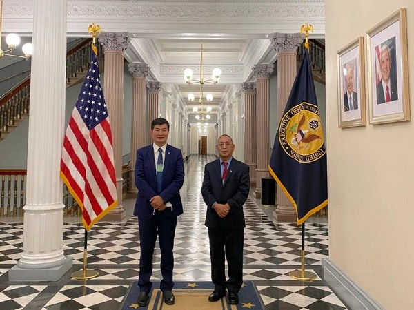DDr Lobsang Sangay, President of the Tibetan-government-in-exile with Representative Ngodup Tsering