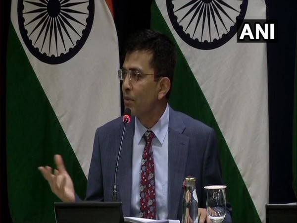 MEA spokesperson Raveesh Kumar addressing a weekly briefing on Thursday.