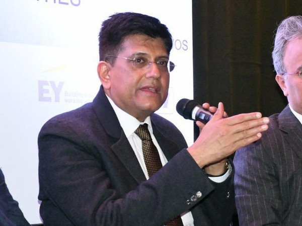 Union Minister Piyush Goyal speaking at a session at WEF 2020 in Davos on Thursday. (Photo Source: Piyush Goyal Twitter)