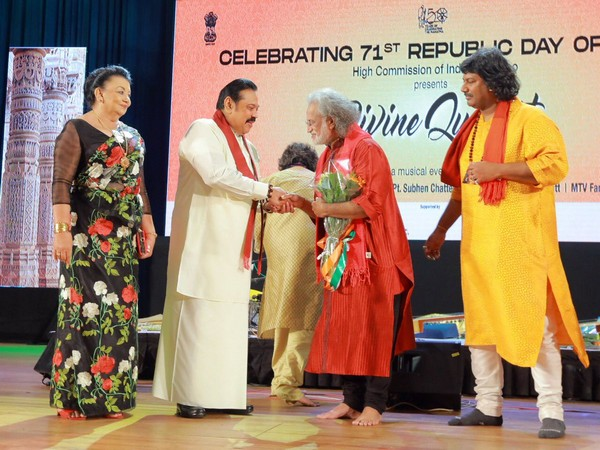 Sri Lankan Prime Minister Mahinda Rajapaksa at function at Indian high commission in Sri Lanka on Saturday