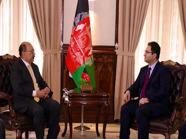Foreign Secretary Harsh Vardhan Shringla met Acting Foreign Minister of Afghanistan Haroon Chakhansuri today in Kabul (Photo tweeted by MEA Spokesperson)