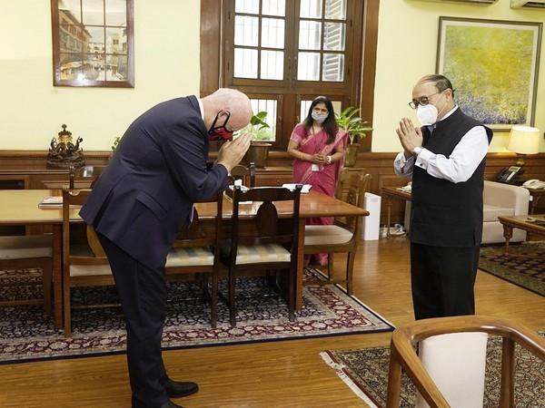 Denmark envoy to India, Freddy Svane, and Foreign Secretary Harsh Vardhan Shringla