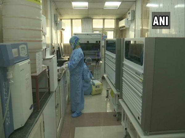 The new NAT-PCR facility in Srinagar's Government Medical College. (Photo/ANI)
